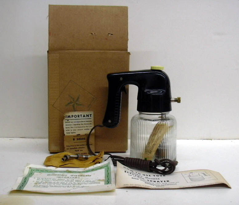 Labor Savers Electric Sprayer spraygun in original packaging never used ca 1950s