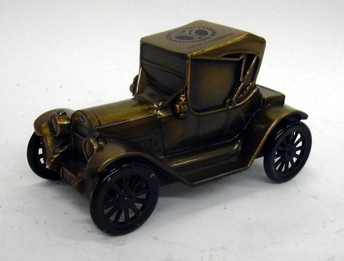 1915 Chevrolet Roadster Banthrico Coin Bank NIB 1970s