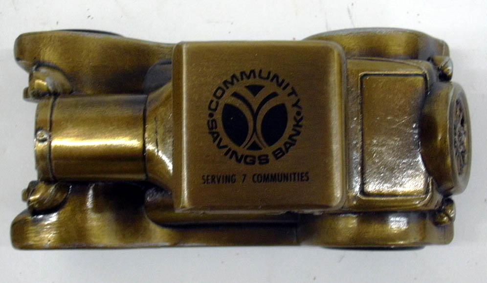 1926 Pontiac Coupe Banthrico Coin Bank NIB 1970s