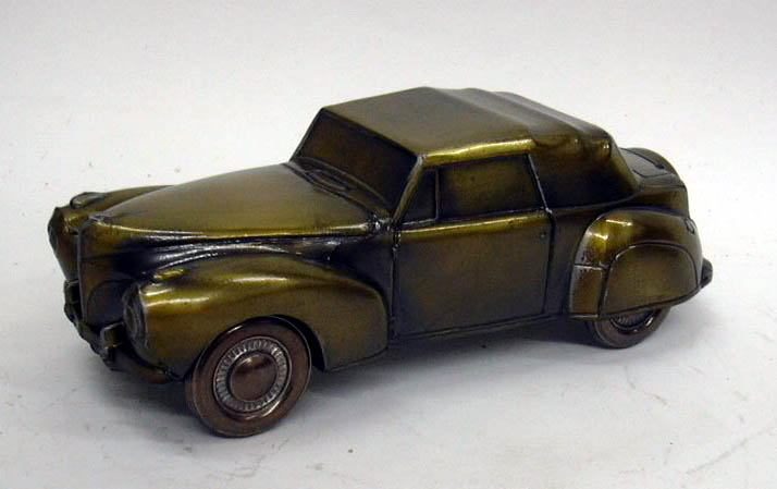 1941 Lincoln Continental Banthrico Coin Bank NIB 1970s