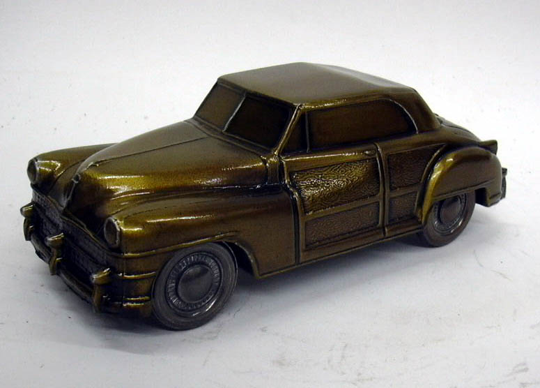 1946 Chrysler Town & Country Banthrico Coin Bank NIB 1970s