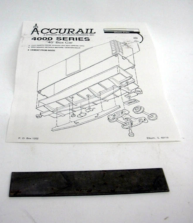 Accurail HO Data Only - DK 40' Box Car kit #4298 unbuilt 1960s