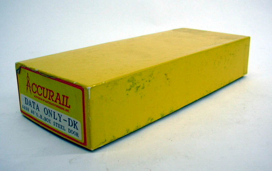 Accurail HO Data Only - DK 40' Box Car kit #4498 unbuilt 1960s