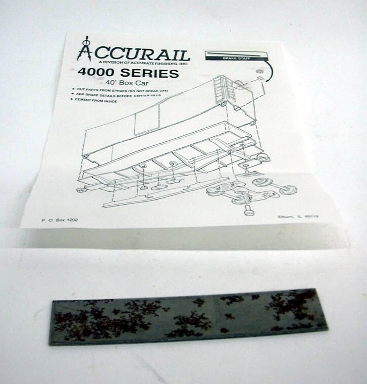 Accurail HO Data Only - DK 40' Box Car kit #4498 unbuilt 1960s