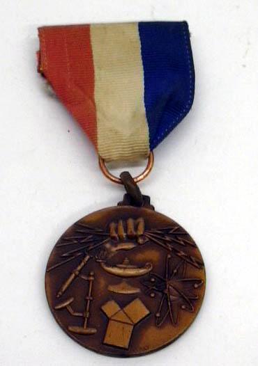 East Hartford High School Junior Biological gold silver bronze medal set 1964 CT
