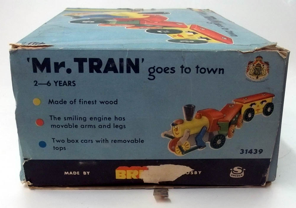 Brio 31349 Mr Train Goes to Town wooden set in original box 1964