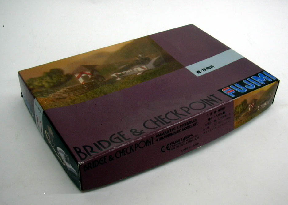 Fujimi plastic model kit Bridge & Checkpoint 1/76 kit unbuilt