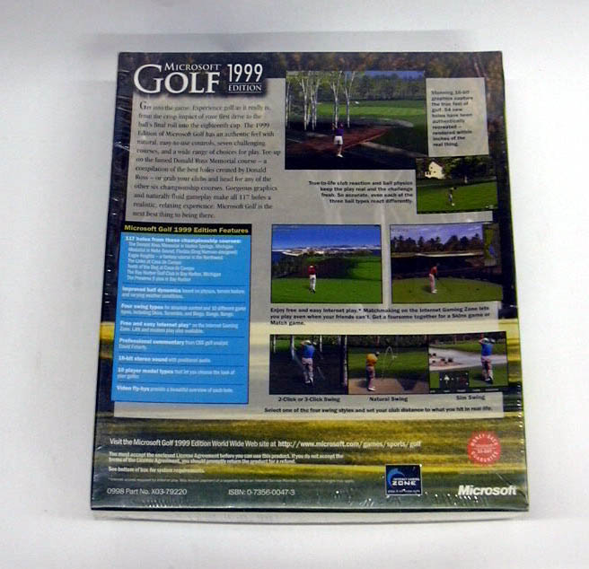 Microsoft Golf 1999 Computer Game MIB never opened