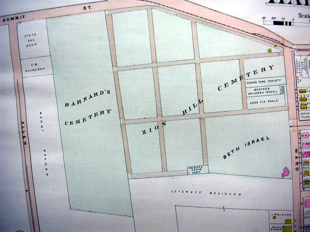 Hartford CT map 1896 Wards 6 & 9 part Orphan Asylum Billings & Spencer +