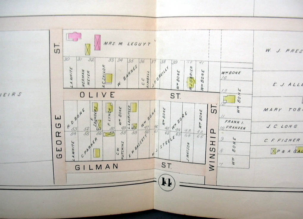 Hartford CT map 1896 Ward 7 & 8 part Maplehurst; State Reformatory +