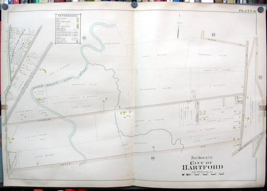 Image for Hartford CT map 1896  Ward 8 & 10 Pt Park River Fertilizing Wks Rocky Hill Pits