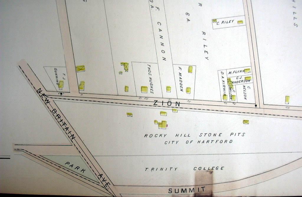 Hartford CT map 1896  Ward 8 & 10 Pt Park River Fertilizing Wks Rocky Hill Pits