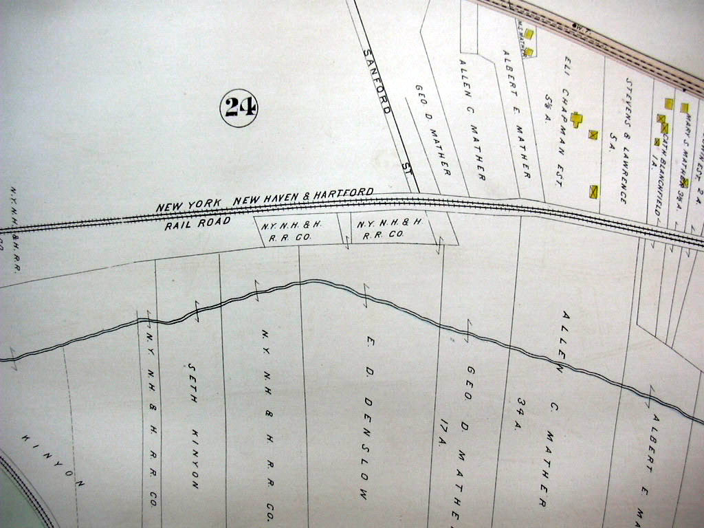Hartford CT map 1896 Wards 2 & 3 River Front Park, Walter Mathers Tobacco Barn +