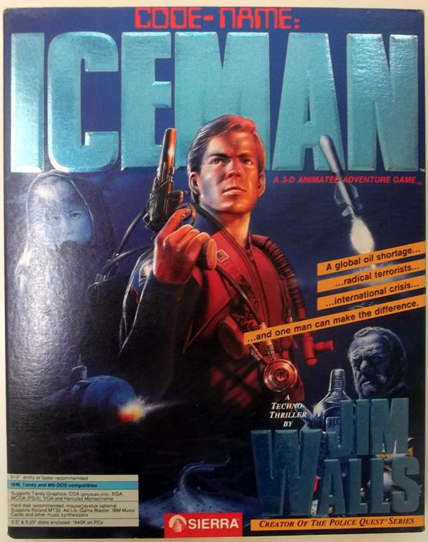Code-Name: ICEMAN MS-DOS Version big box 1990 Sierra PC Game