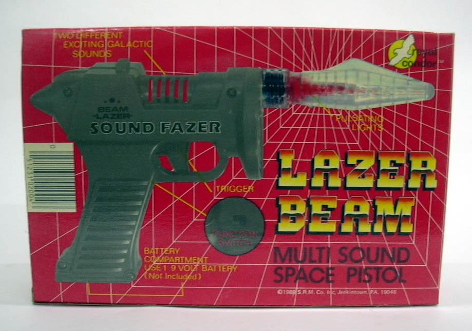 Royal Condor Lazer Beam Sound Fazer Multi Sound Space Pistol MIB 1988