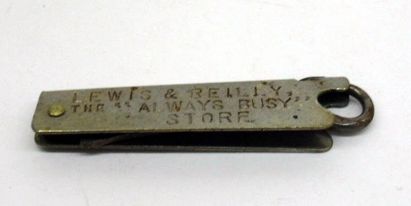 Lewis & Reilly The Always Busy Store folding metal hook 1903