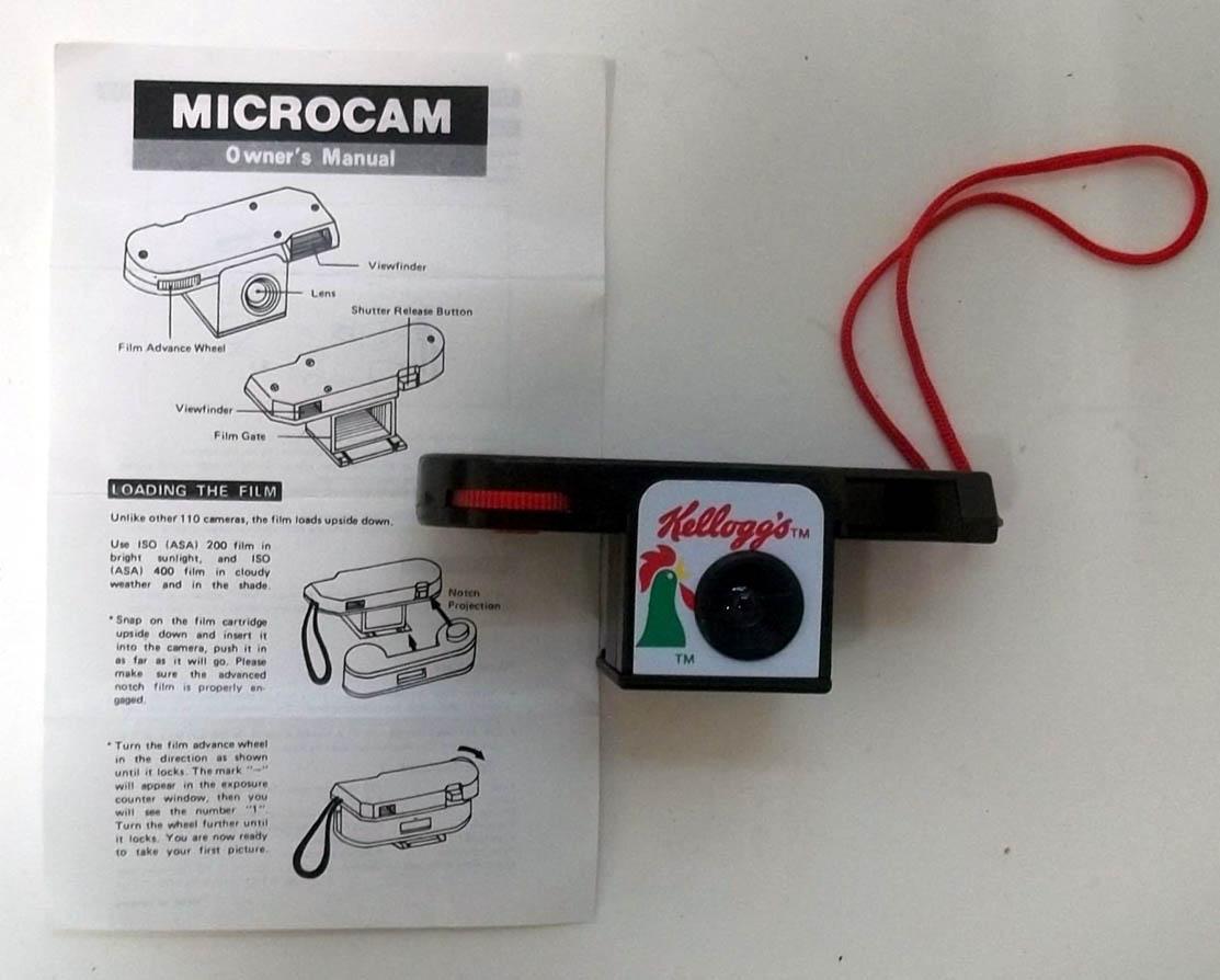 Kellogg's Corn Flakes Mini 110 film Microcam in original box