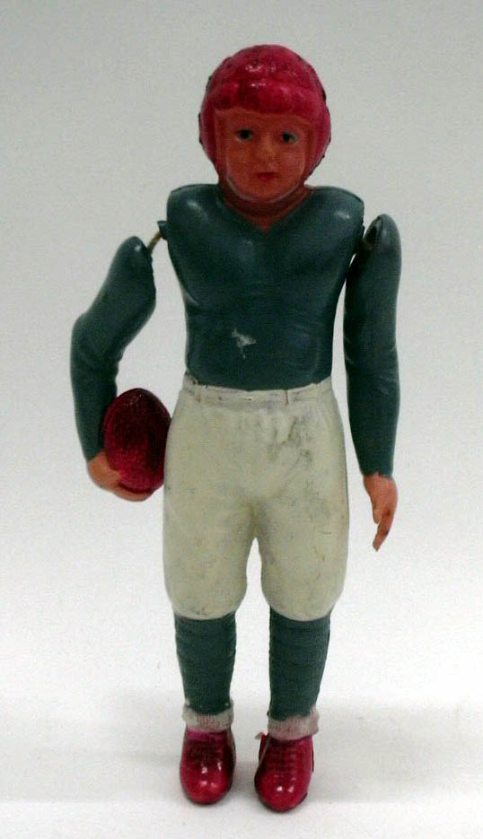 Celluloid football player #3 Made in Occupied Japan 1940s