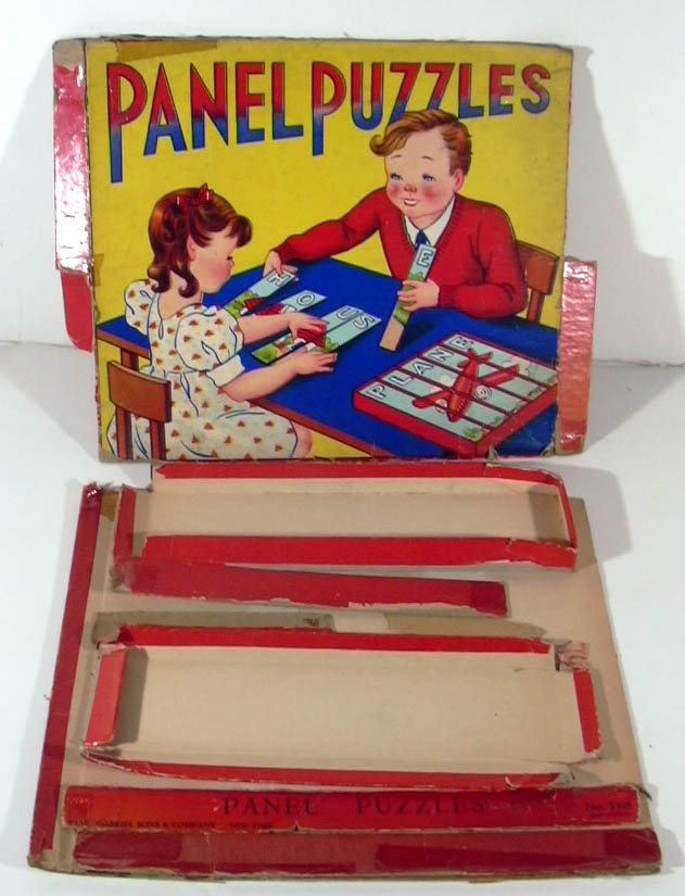 Saml Gabriel Panel Puzzles Set #T416 in remnants of box