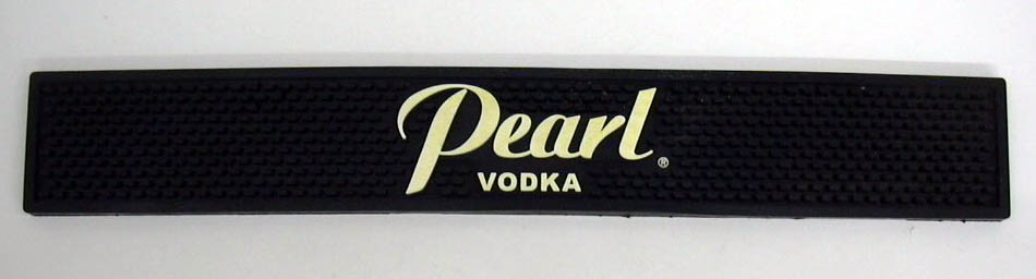 Pearl Vodka rubber bar mat 3 1/2 x 23 1/4""
