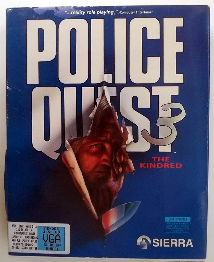Police Quest 3 The Kindred Sierra On-Line MS-DOS VGA game 1991