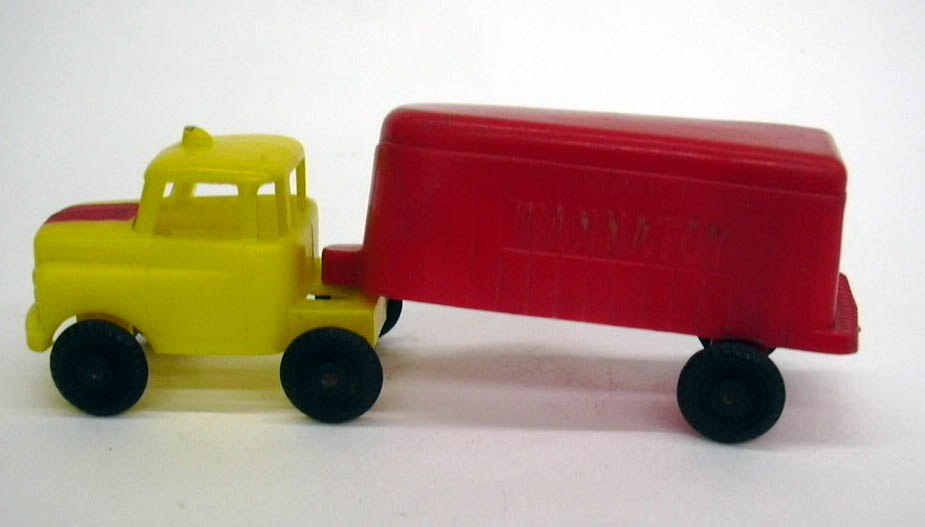 Wannatoy plastic semi-trailer truck 1950s