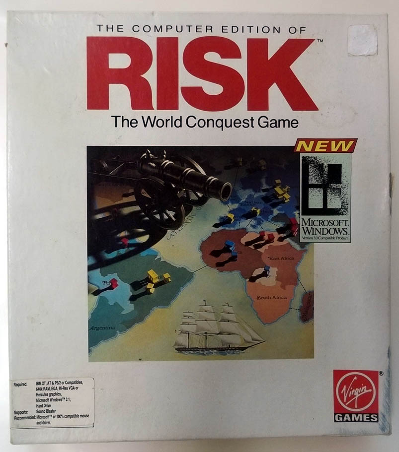 Computer Edition of Risk Microsoft Windows 3.1 Version big box 1995 Virgin Games