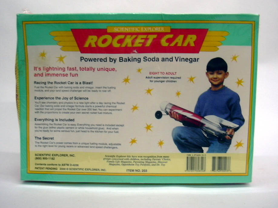 Scientific Explorer Baking Soda & Vinegar Rocket Car MIB 2000