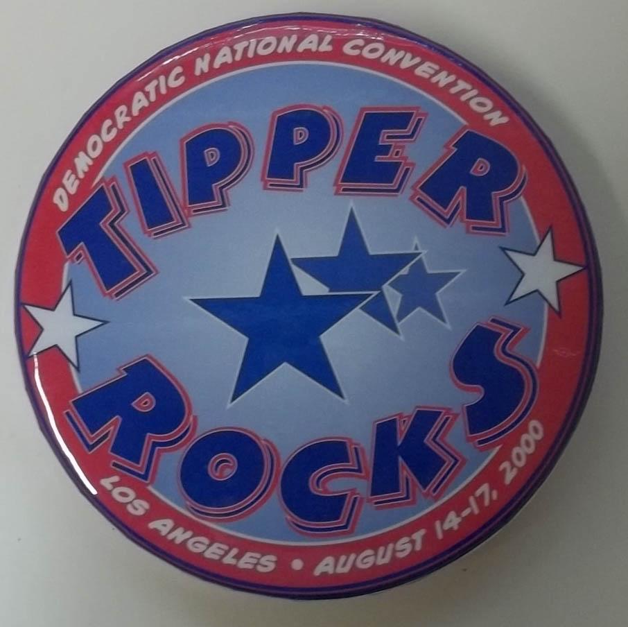Democratic National Convention Tipper Rocks tambourine Los Angeles 2000