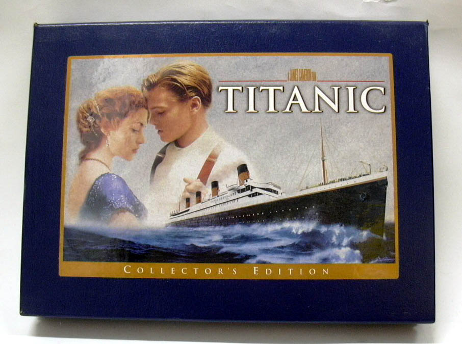 James Cameron's Titanic Collector's Edition VHS set with filmstrip scene 1998