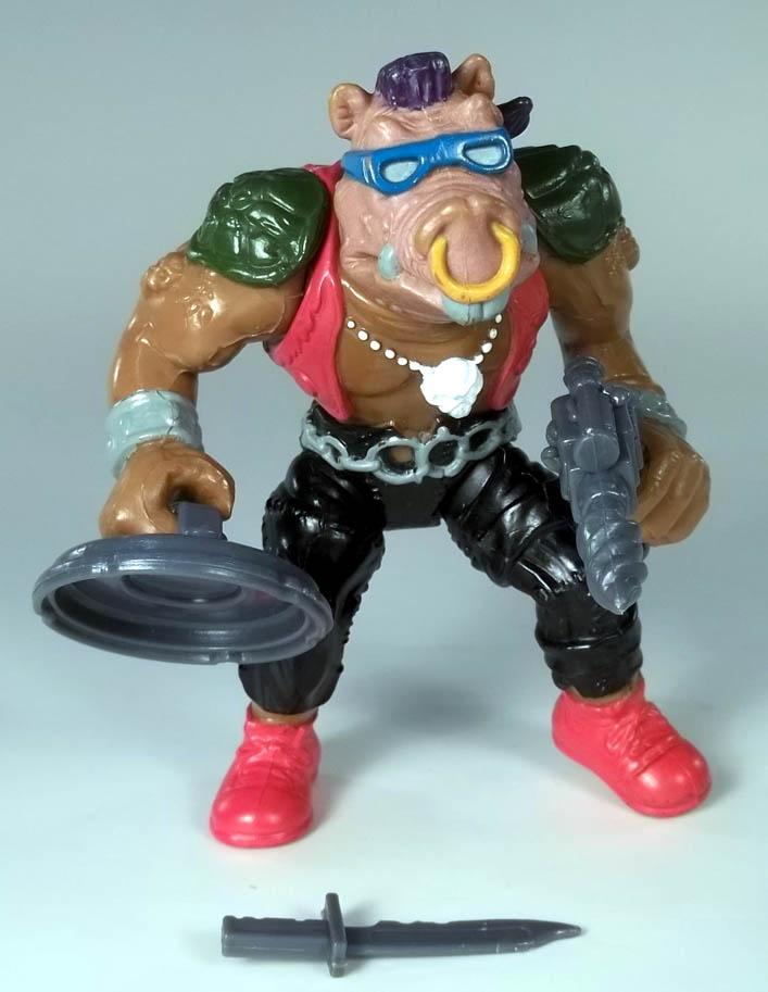 Bebop Teenage Mutant Ninja Turtles Playmates 1988 Action Figure + Cardback