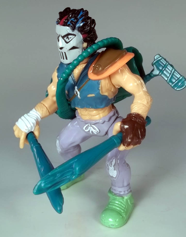 Casey Jones Teenage Mutant Ninja Turtles 1989 Action Figure COMPLETE + Cardback