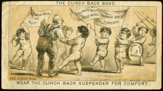 Image for Naked babies Clinch Back Suspenders tradecard