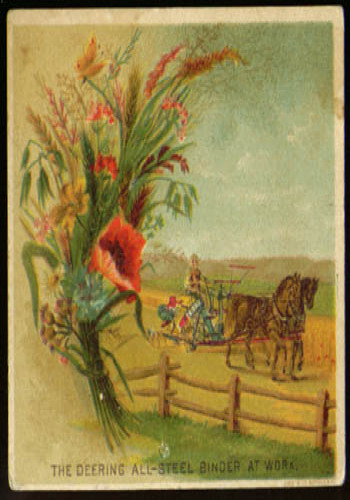 Image for Deering All-Steel Binder Farm Implement tradecard 1880s