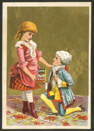 Image for Lavine Soap boy powdered wig proposal trade card