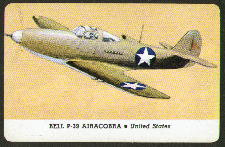 Image for Bell P-39 Airacobra Whitman trading card 1944 Series D