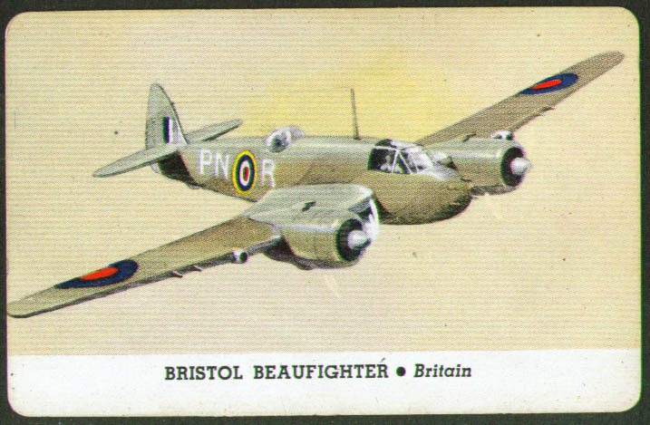 Image for Bristol Beaufighter Whitman trading card 1944 Series D