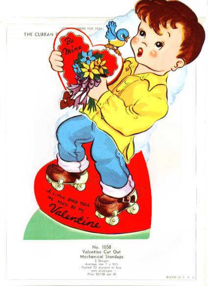 Image for Roller skate mechanical Valentine page 1954
