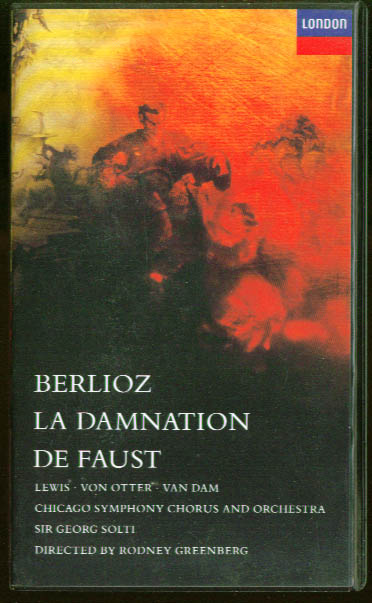 Image for Berlioz Damnation of Faust: Lewis Von Otter VHS 1989