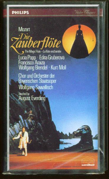 Mozart Die Zauberflote: Popp Gruberova Araiza VHS 1983