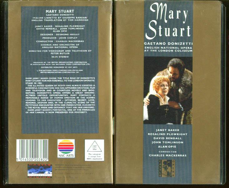 Donizetti: Mary Stuart: Baker Plowright VHS 1982