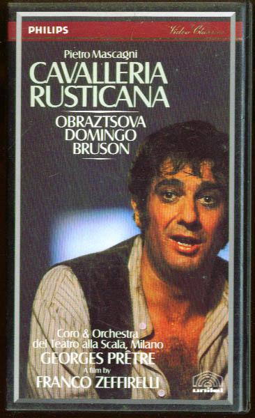 Mascagni: Cavellleria Rusticana: Domingo + VHS 1982