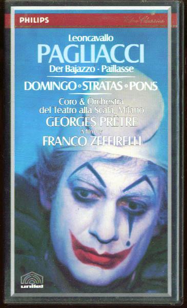 Leoncavallo: Pagliacci: Domingo Stratas Pons VHS 1982