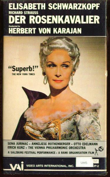 Strauss: Der Rosenkavalier: Schwarzkopf VHS 1962 1984