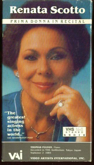 Renata Scotto Prima Donna in Concert Tokyo VHS 1984