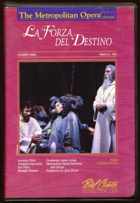 Verdi: La Forza del Destino: Price Giacomini VHS 1984