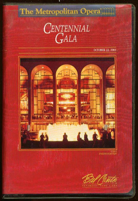 Metropolitan Opera Centennial Gala VHS 1983 1989