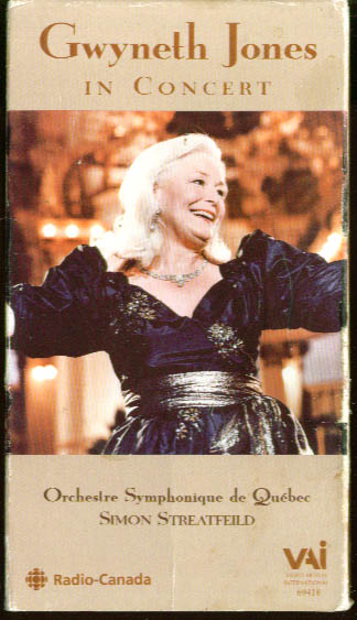 Image for Gwyneth Jones in Concert Quebec VHS 1988 1999