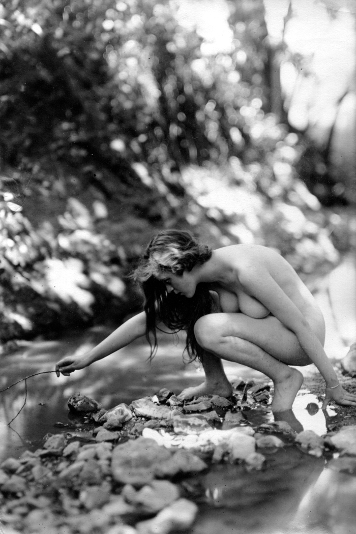 Image for Crouching 1920s nude 8x10 Albert Arthur Allen photo