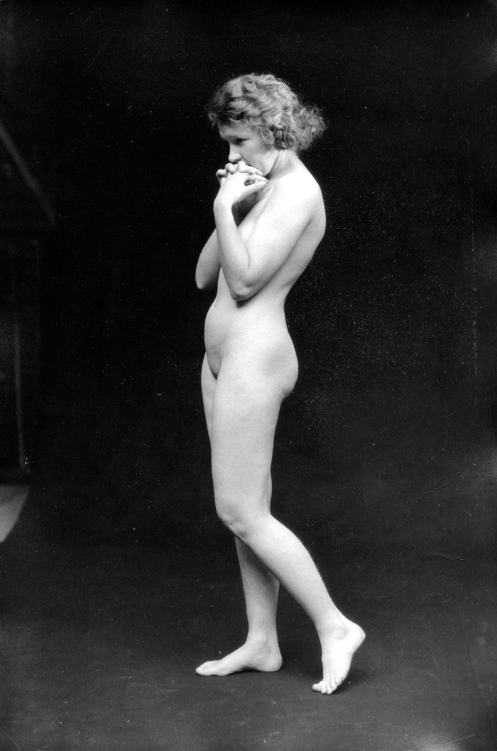 Image for Clasped hands 1920s nude 8x10 Albert Arthur Allen photo